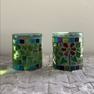 Turkish Mosaic Candle Holders, Votives, Decor